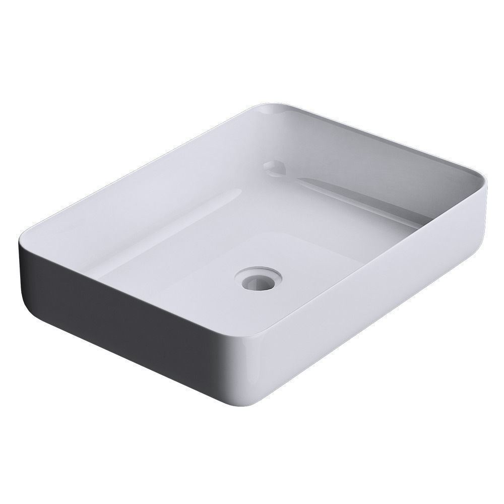 Durovin bathroom solid slim thin stone resin countertop shelf wash basin sink - Slim cloakroom basin ...