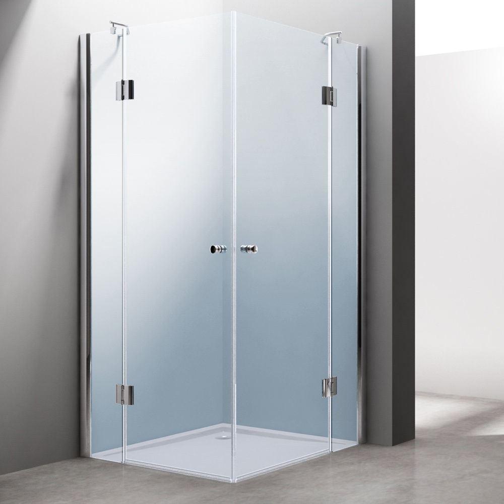 Luxury Hinged Glass Door Square Corner Shower Cubicle Acrylic Tray ...