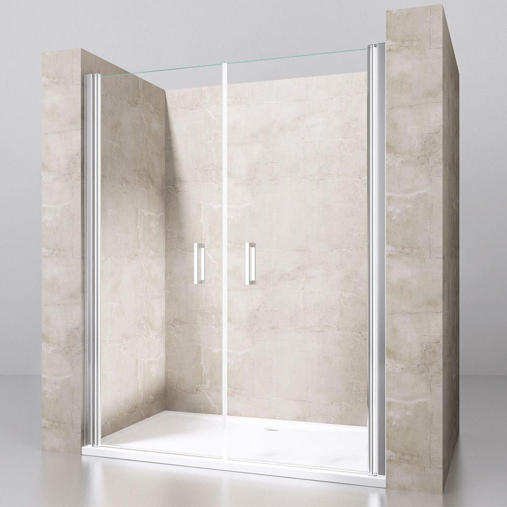 Durovin Design Pivot Hinge Easy Clean Shower Enclosure Brass Chome ...