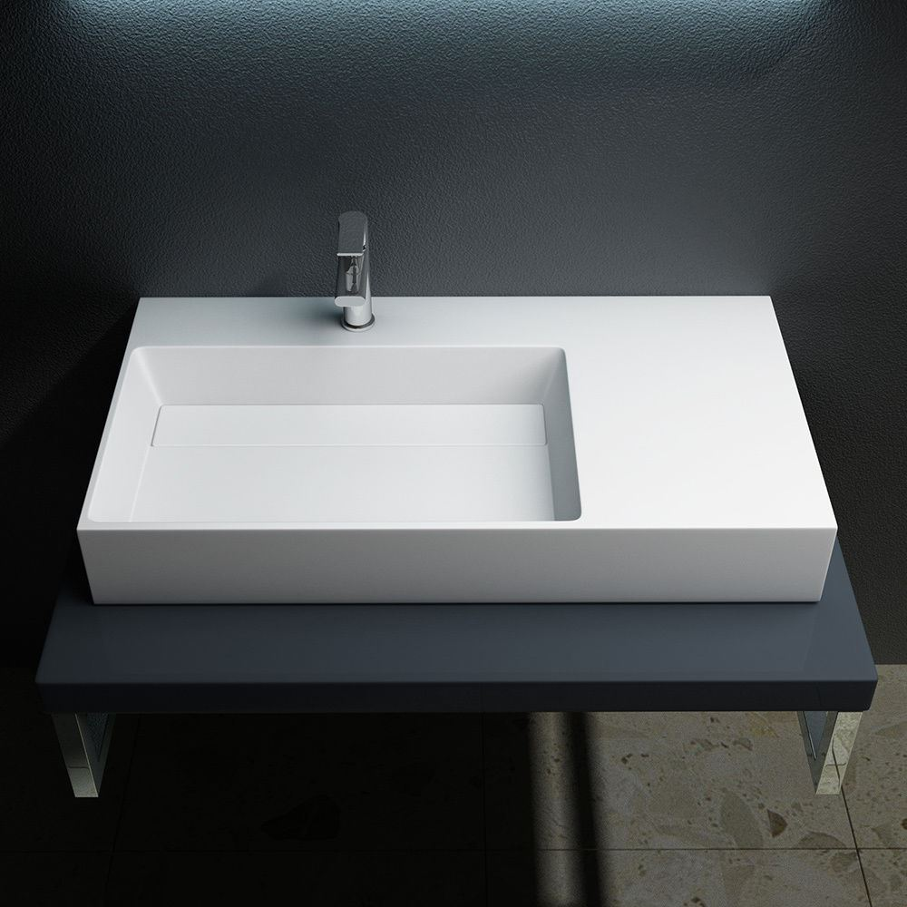 Bathroom Sink With Shelf: Durovin Bathroom Stone Wall Mountable Mount Counter Top