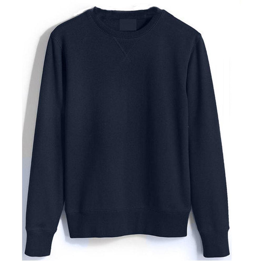 Men,s Plain Sweatshirt Jersey Jumper Sweater Pullover Work Casual Leisure Warm