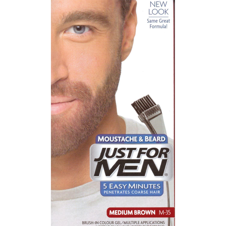 Just-For-Men-Moustache-amp-Beard-Brush-In-Colour-Gel-Choose-your-colour