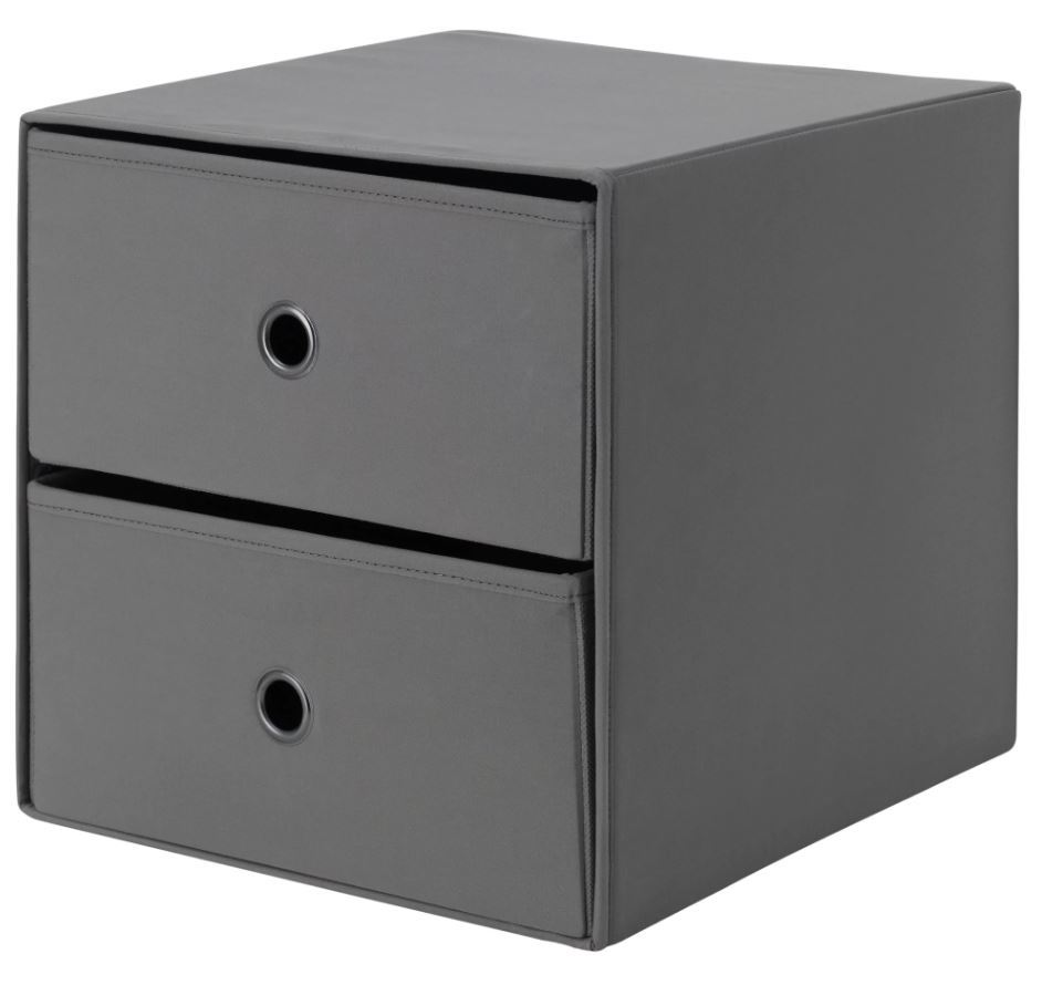 ikea flarra mini commode avec 2 tiroirs petit stockage pour kallax ebay. Black Bedroom Furniture Sets. Home Design Ideas