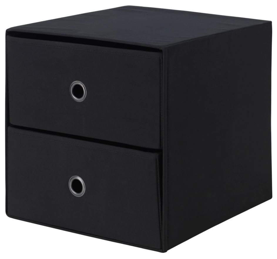 Ikea flarra mini chest with 2 drawers small storage for for Cardboard drawers ikea