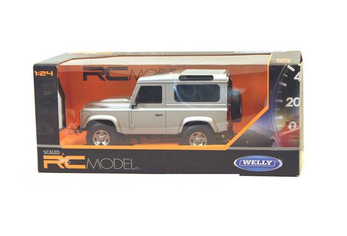 Welly 1 24 Land Rover Defender Remote Control Car Silver