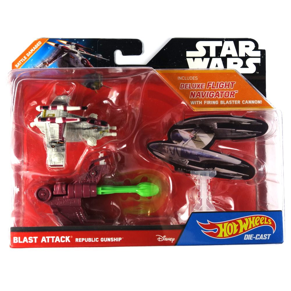 star wars hot wheels blast attack republic gunship with firing cannon ebay. Black Bedroom Furniture Sets. Home Design Ideas