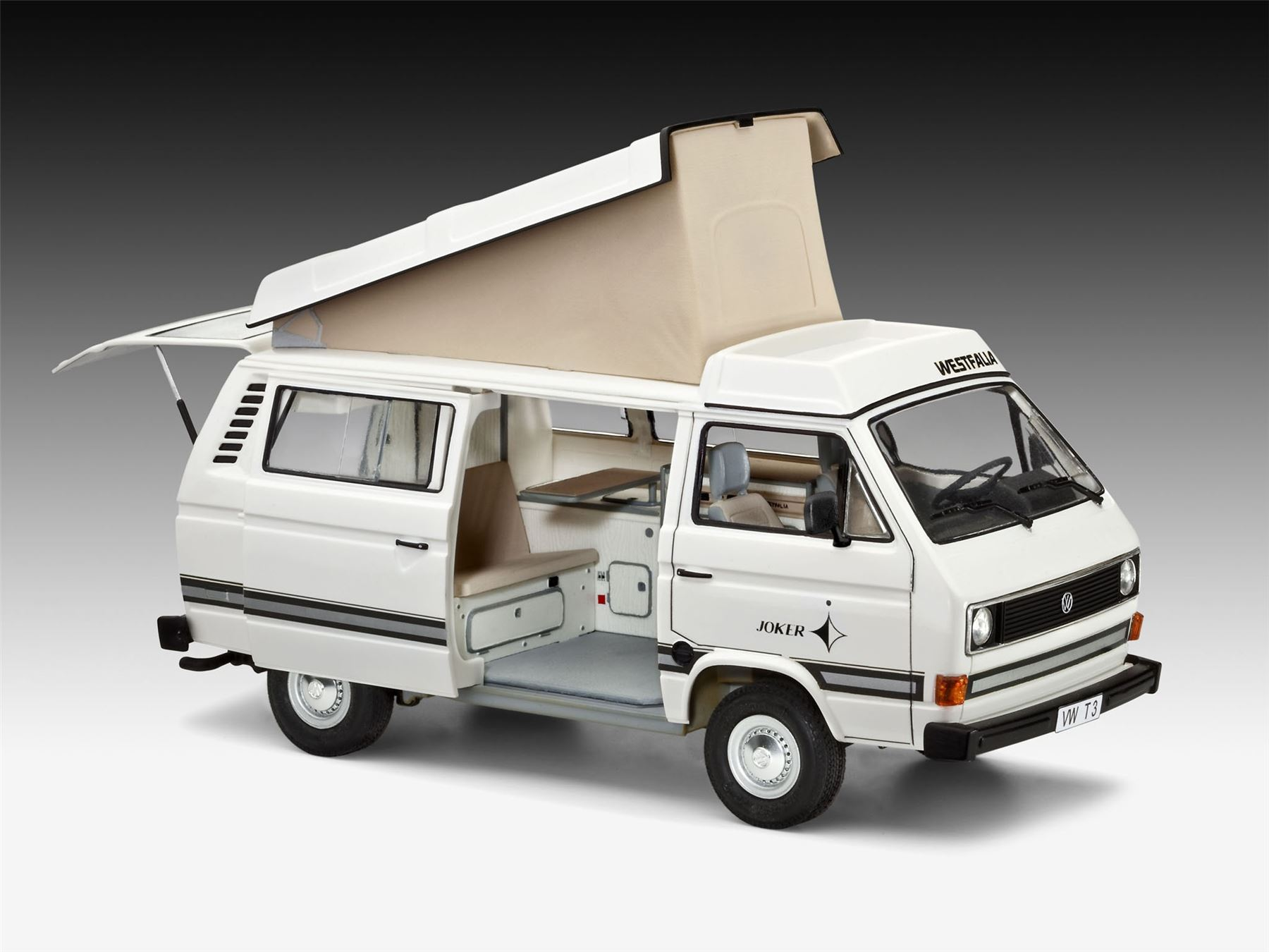 revell volkswagen t3 camper 1 25 model set rev67344. Black Bedroom Furniture Sets. Home Design Ideas