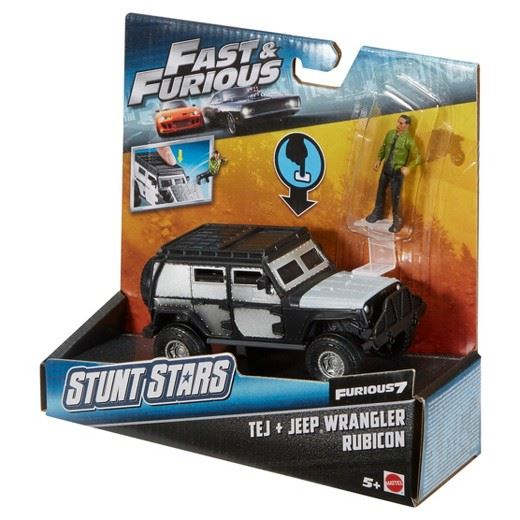 MATTEL FCG31 FAST /& FURIOUS 7 Stunt Stars TEJ /& JEEP WRANGLER Play Vehicle