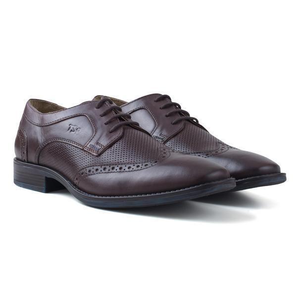 Redfoot Mens Chocolate Brown Regola Shoe UHOrUq