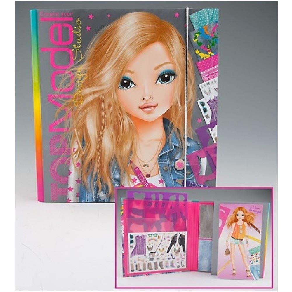 Top model colouring book design studio bvy depesche ebay - Top model coloriage livre ...