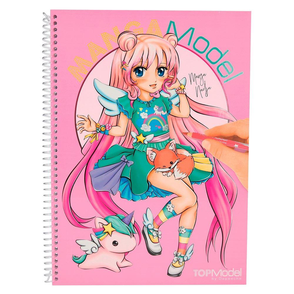 Top Model Manga Model Colouring Book By Depesche Ebay
