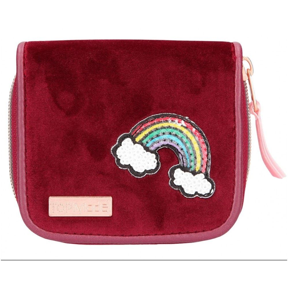 Beaded Elephant Velvet Long Purse from Myanmar