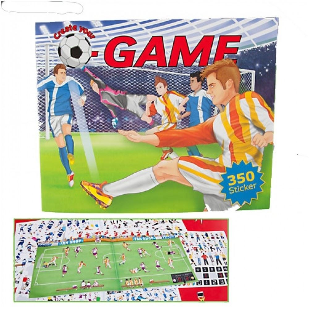 top create your football game colouring book ebay