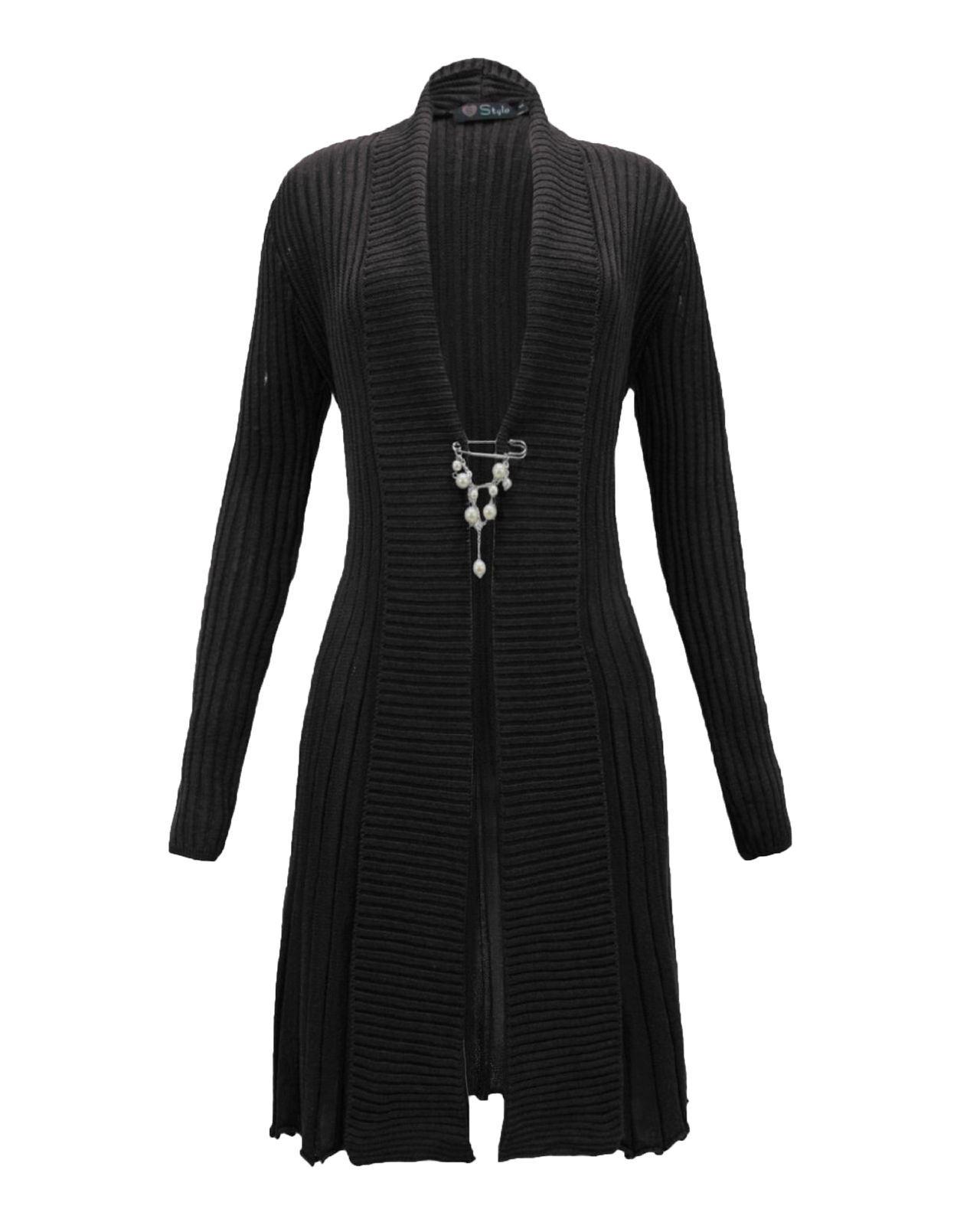Ladies-Women-Knitted-Brooch-Boyfriend-Cardigan-Waterfall-Summer-Dress-Top-Jumper thumbnail 10