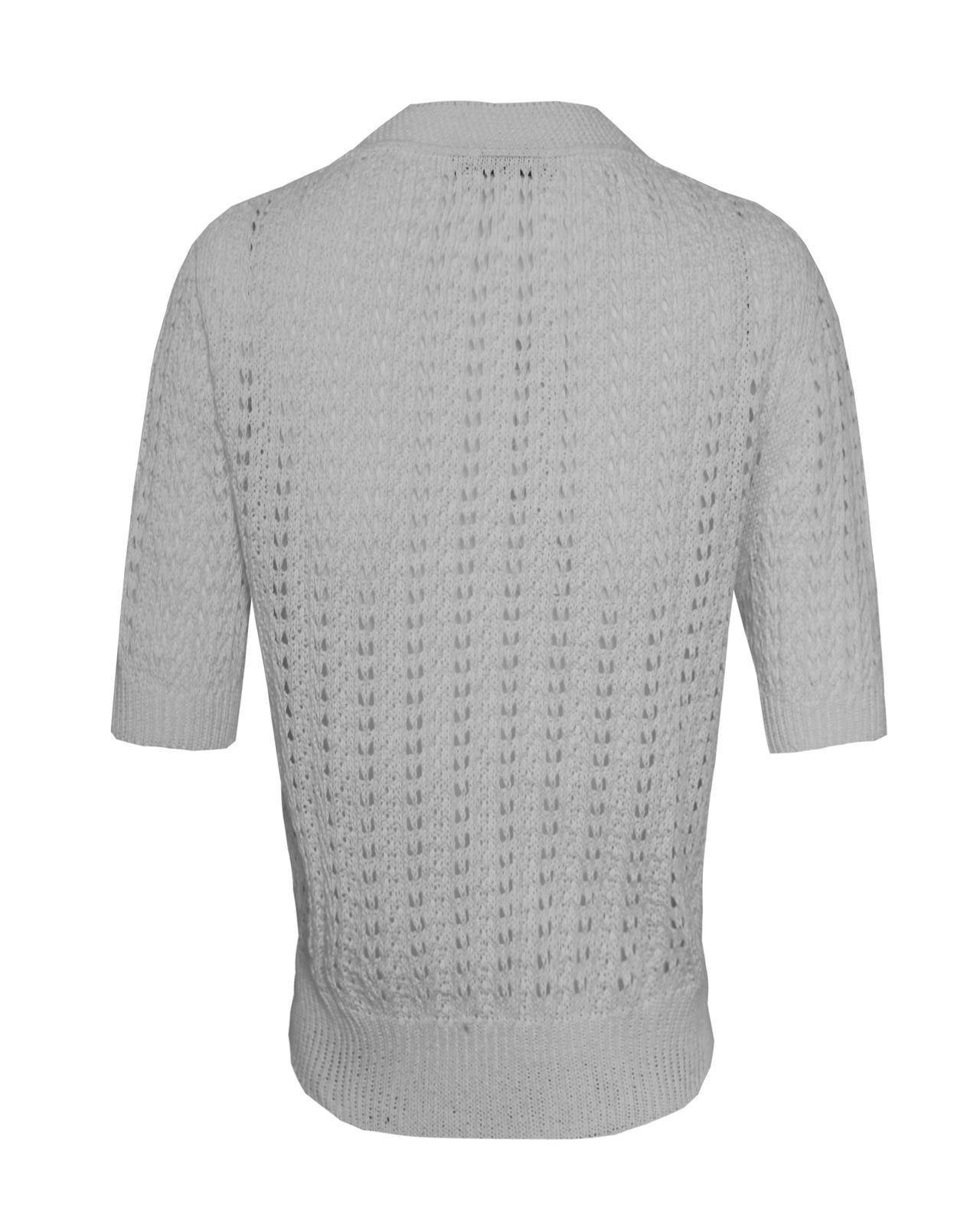 Mesdames-crochet-tricote-pour-femme-manches-courtes-hausser-brooched-cardigan-crop-top-8-14 miniature 15