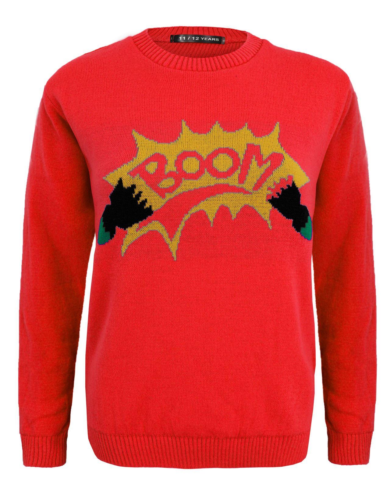 Kids Girls Boy Knitted Banana Minion Boom Christmas Xmas Novelty ...