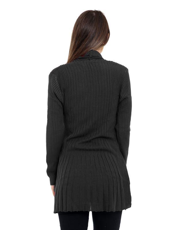 Senoras-Mujeres-De-Punto-Boyfriend-Cardigan-Brooched-Cascada-sumeria-Vestido-Jumper miniatura 7
