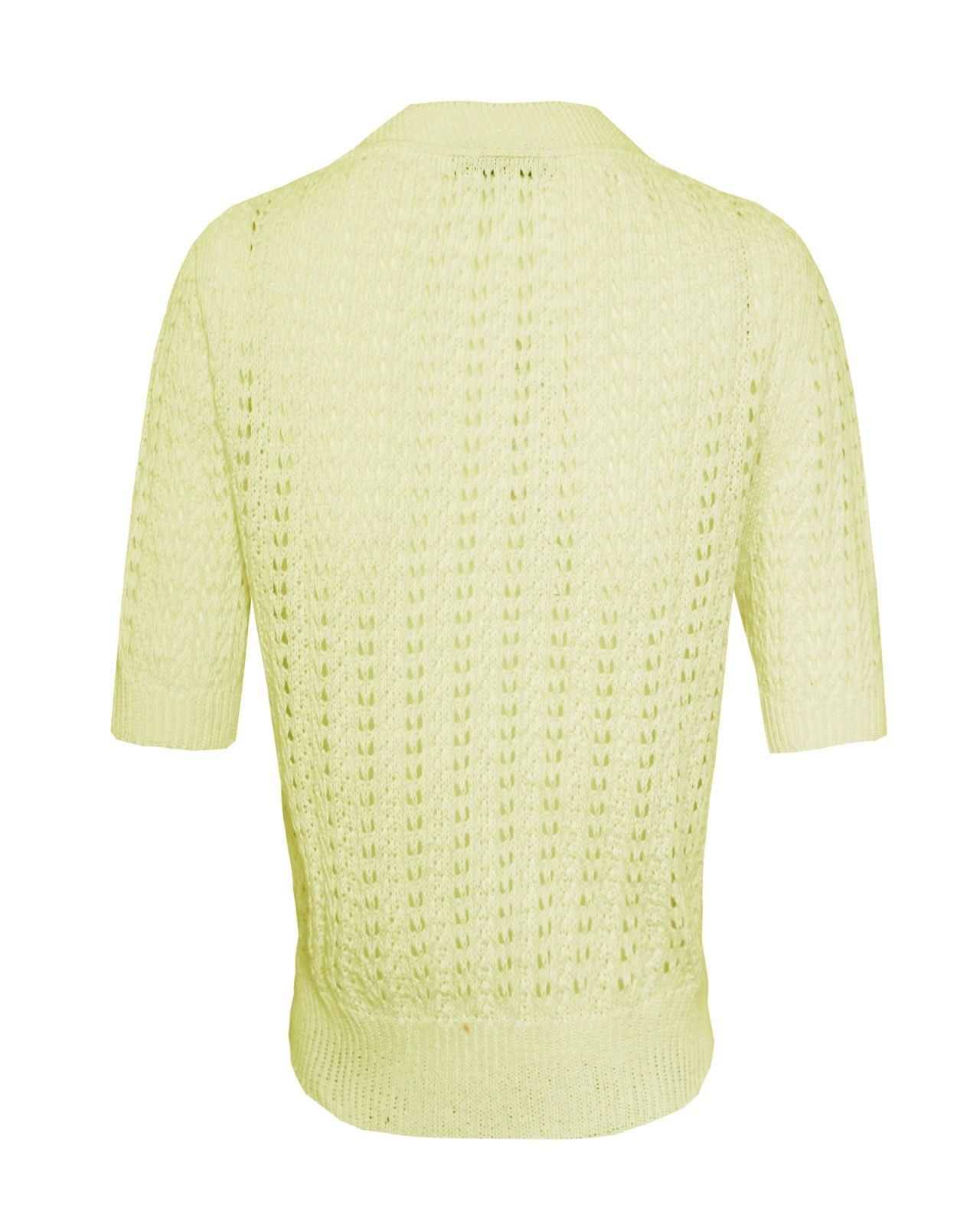 Mesdames-crochet-tricote-pour-femme-manches-courtes-hausser-brooched-cardigan-crop-top-8-14 miniature 13