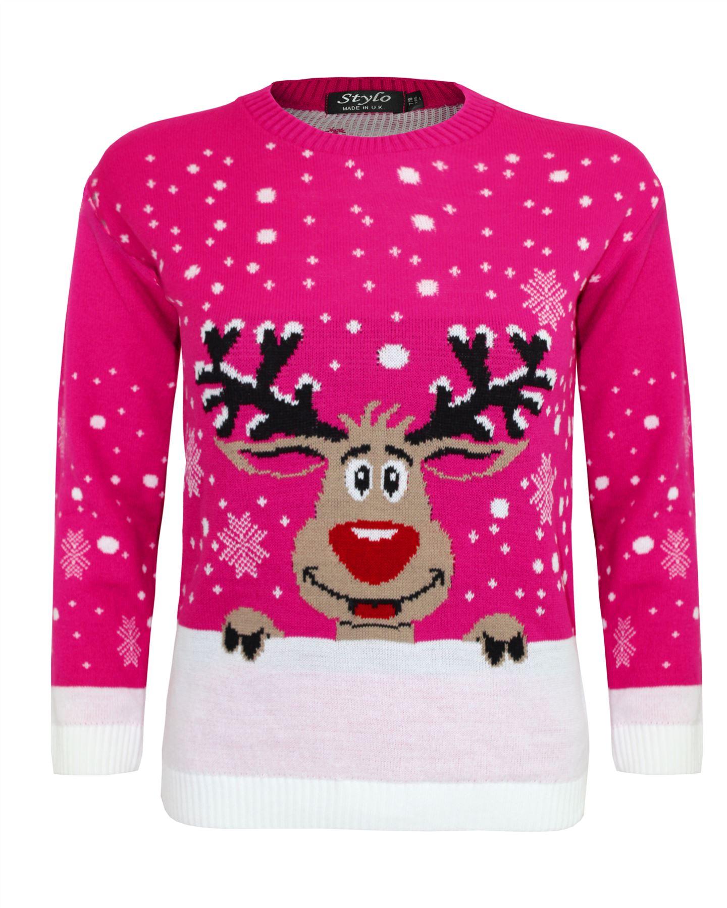 Winter Coat Kid Boy Girl Novelty Christmas Sweater Xmas Deer Pullover Jumper Top