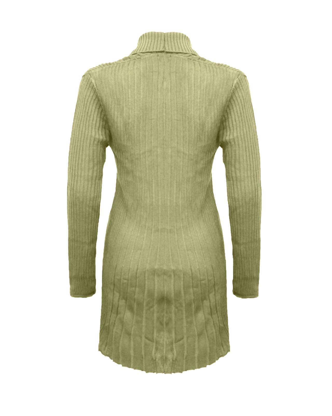 Senoras-Mujeres-De-Punto-Boyfriend-Cardigan-Brooched-Cascada-sumeria-Vestido-Jumper miniatura 16