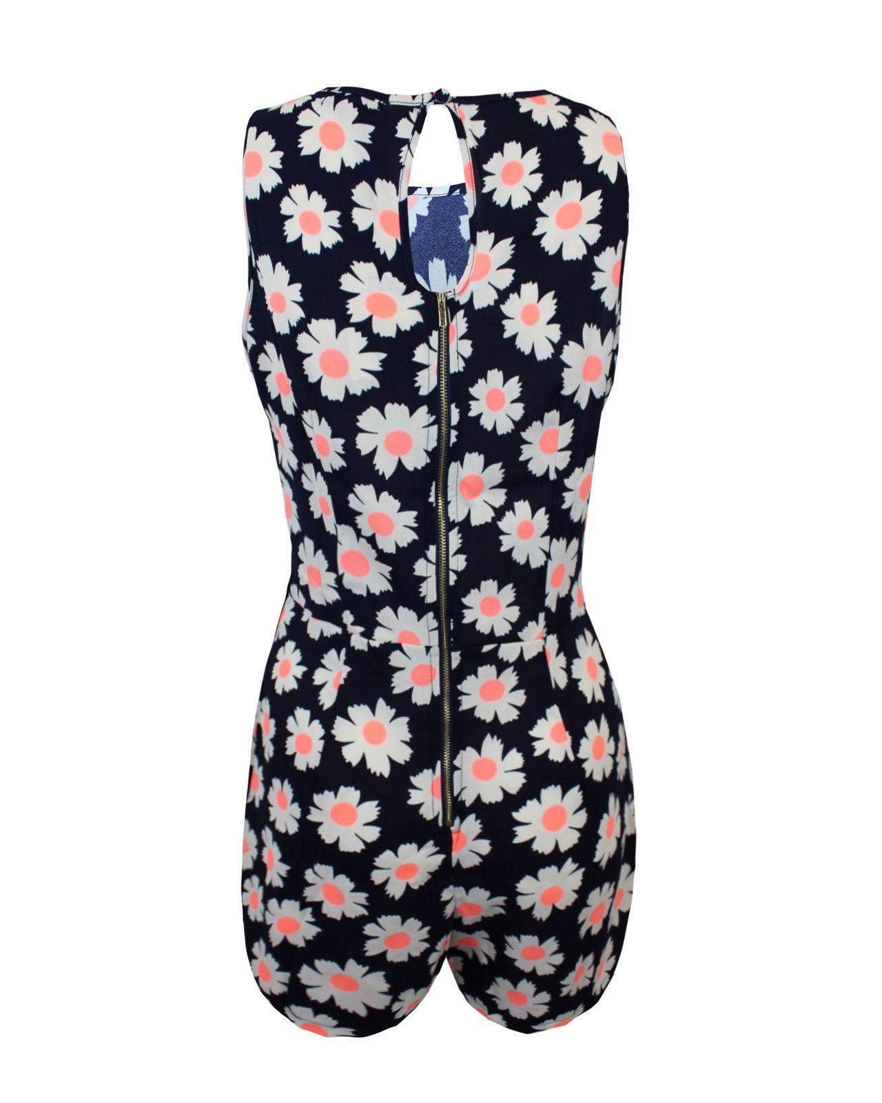 Nuevas-senoras-para-mujer-Cachemira-Flor-Mono-Estampado-Azteca-Mono-corto-vestido-de-cremallera-en miniatura 6