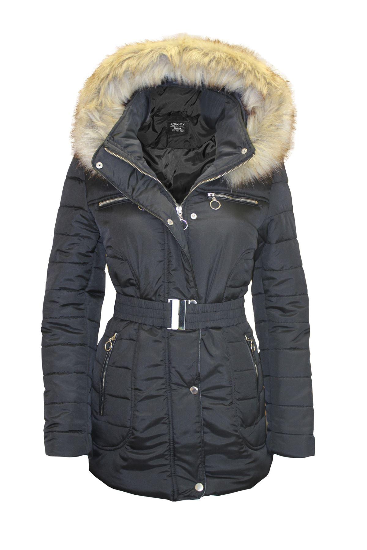 pour femmes à poches poches femme avec capuche fourrure Manteau en à et glissière pour IqO1fUf