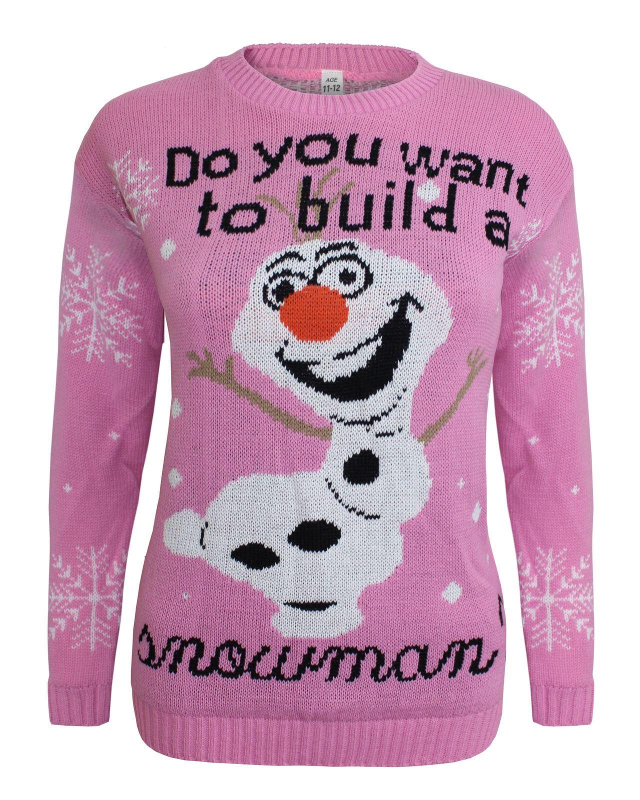 Kids Knitted Reindeer Turtle Ninja Christmas Jumper Xmas Olaf ...