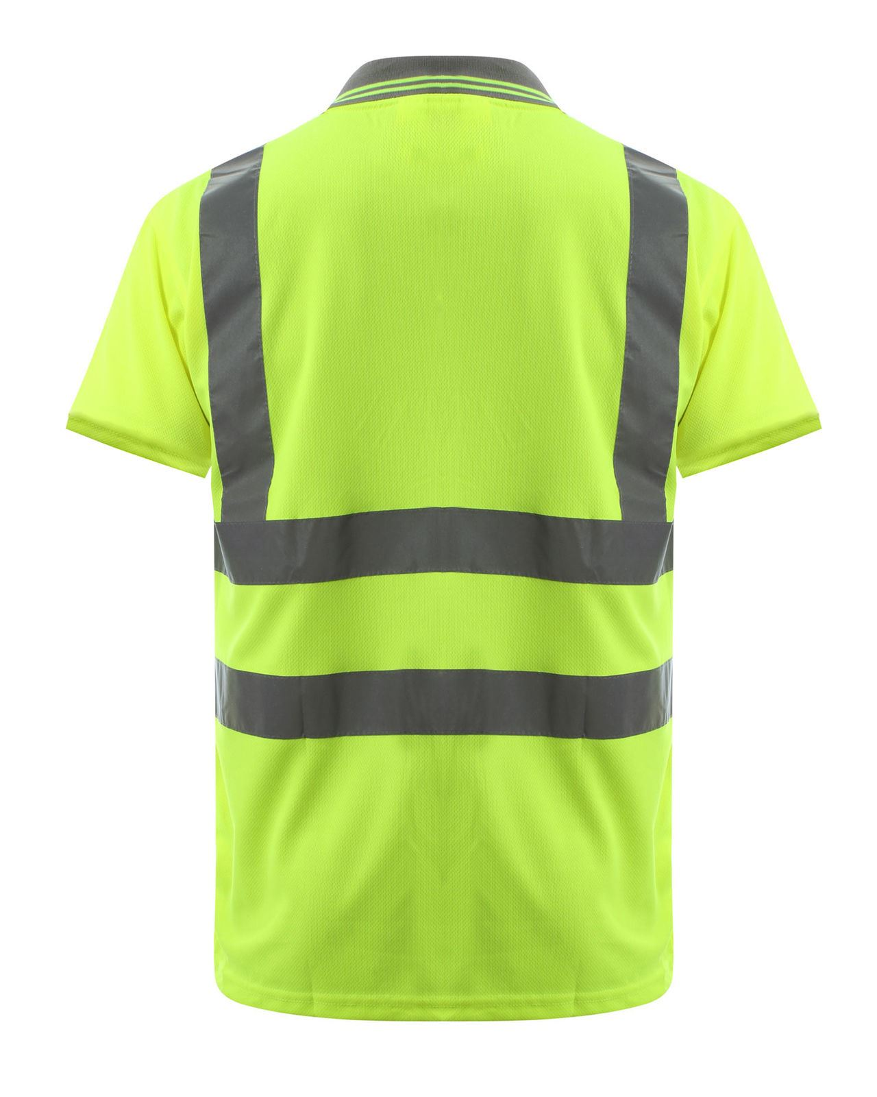 Hi Visibility High Viz Short Sleeve Safety Workwear Yellow