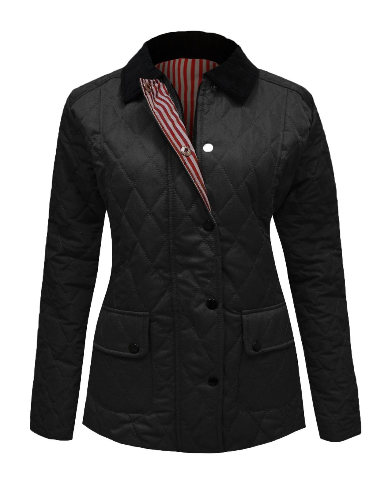 Quilted Blazers: New Ladies Womens Quilted Padded Buttoned Pocket Long