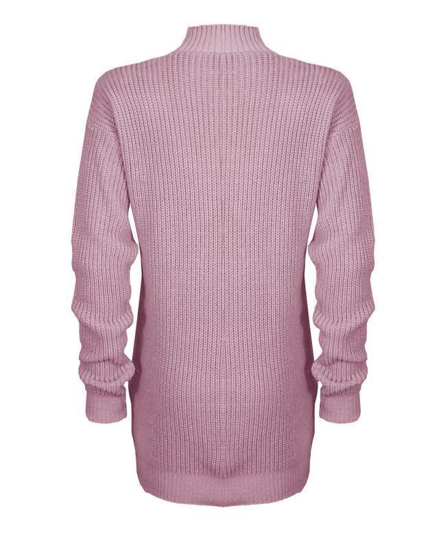 Le-donne-Donna-A-Maglia-Girocollo-Maglione-a-trama-grossa-Collo-Top-Baggy-Over-dimensionati-sweater miniatura 28