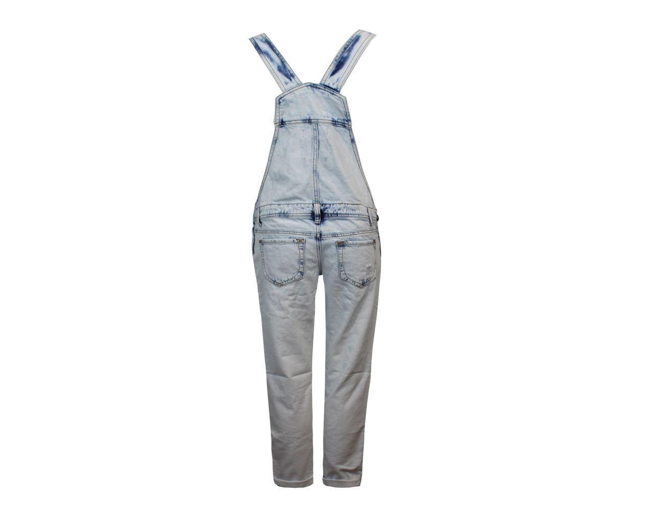 Bolsillo-senoras-boton-Denim-Hot-Pant-peto-corto-para-mujer-larga-Jeans-Mono miniatura 3