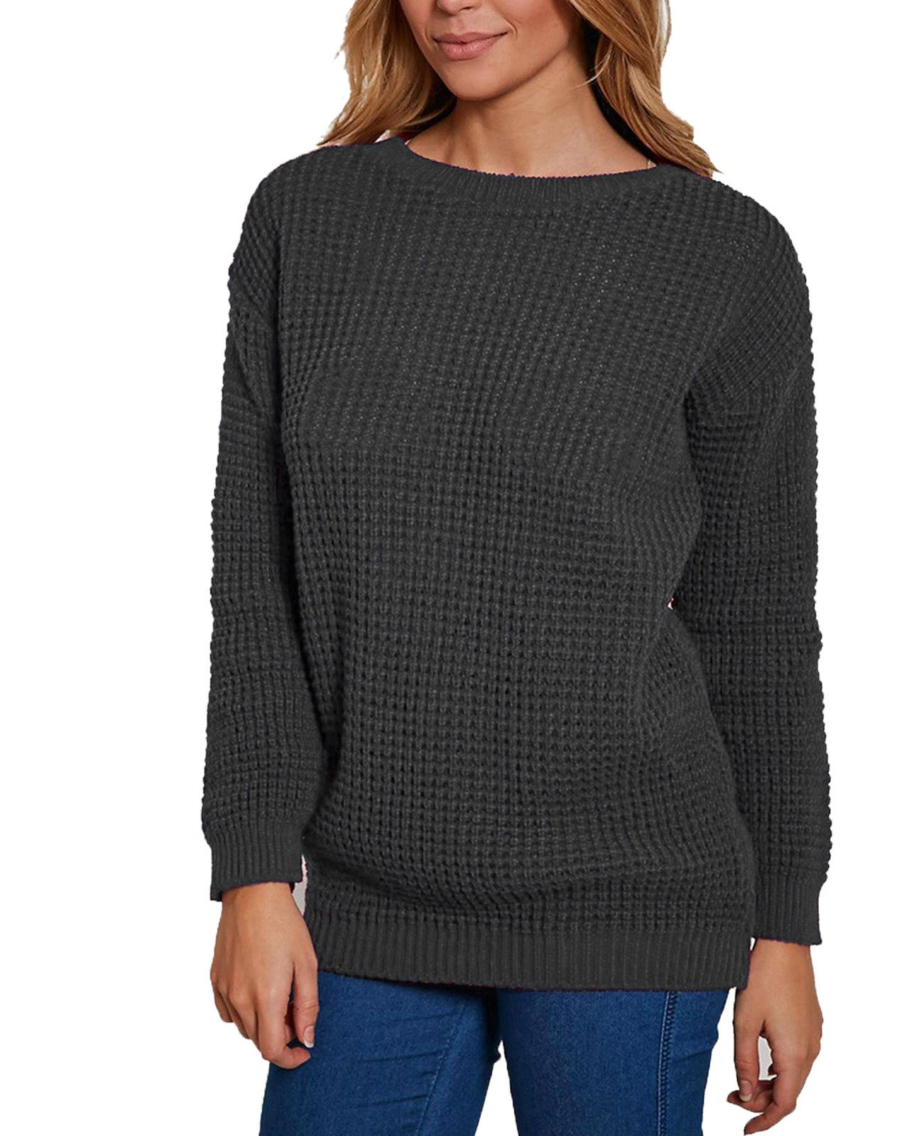 Ladies Women Knitted Over Size Fisherman Baggy Jumper