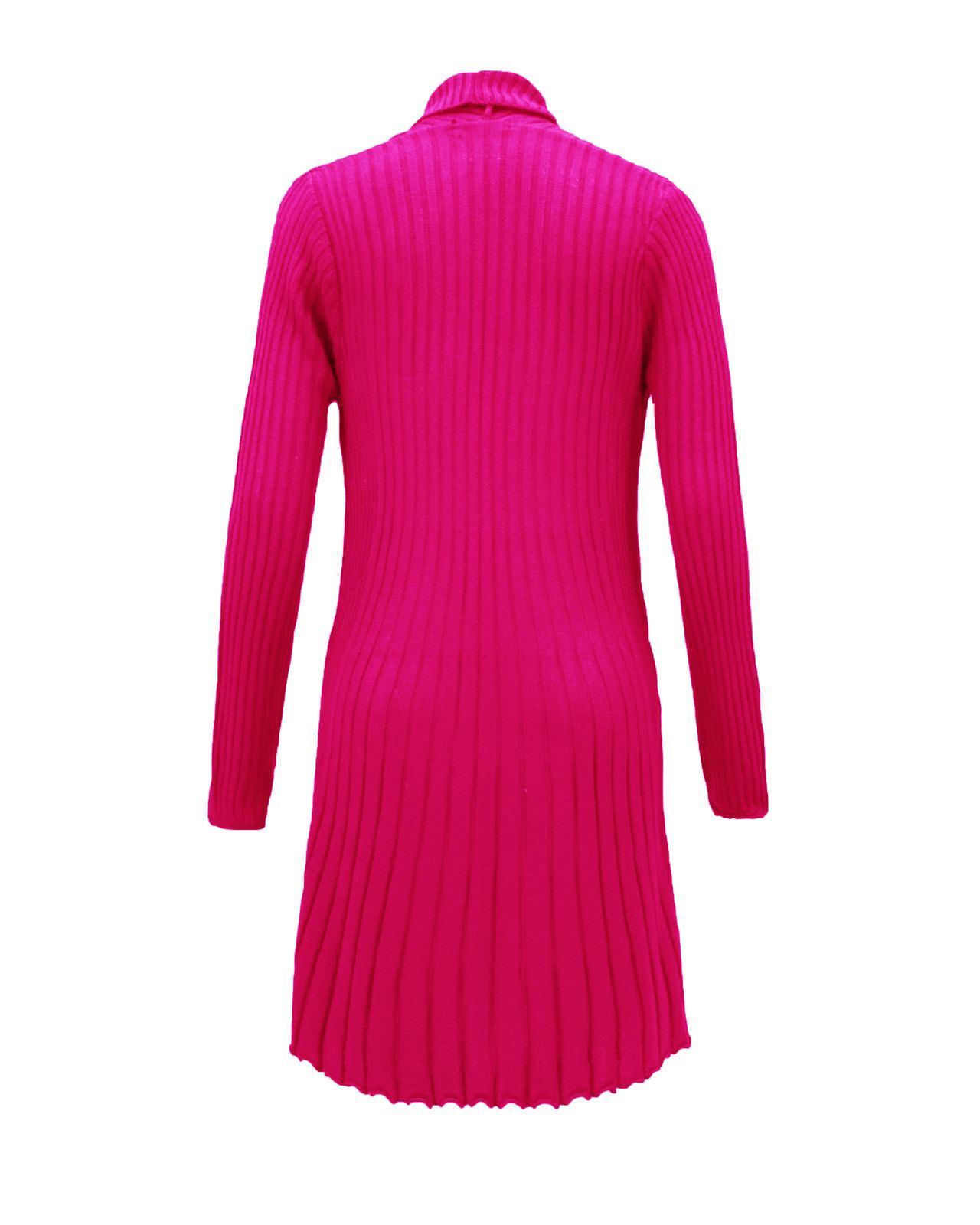 Senoras-Mujeres-De-Punto-Boyfriend-Cardigan-Brooched-Cascada-sumeria-Vestido-Jumper miniatura 11