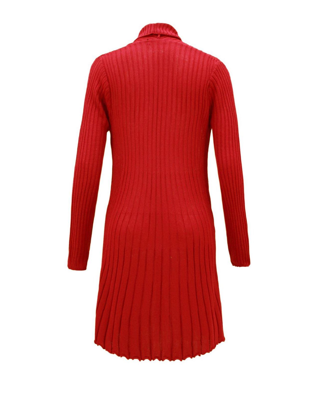 Senoras-Mujeres-De-Punto-Boyfriend-Cardigan-Brooched-Cascada-sumeria-Vestido-Jumper miniatura 9