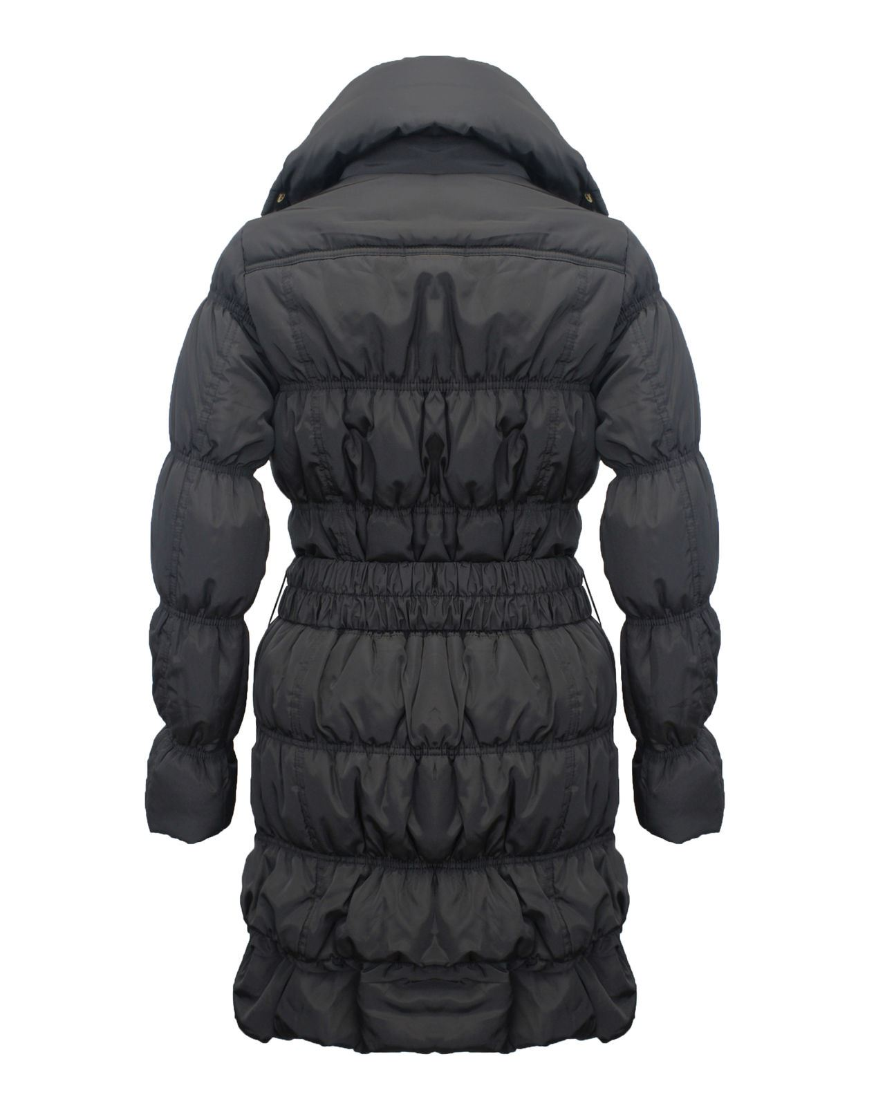 Ladies-Women-High-Neck-Collar-Quilted-Padded-Waist-Belt-Puffer-Coat-Jacket-8-16