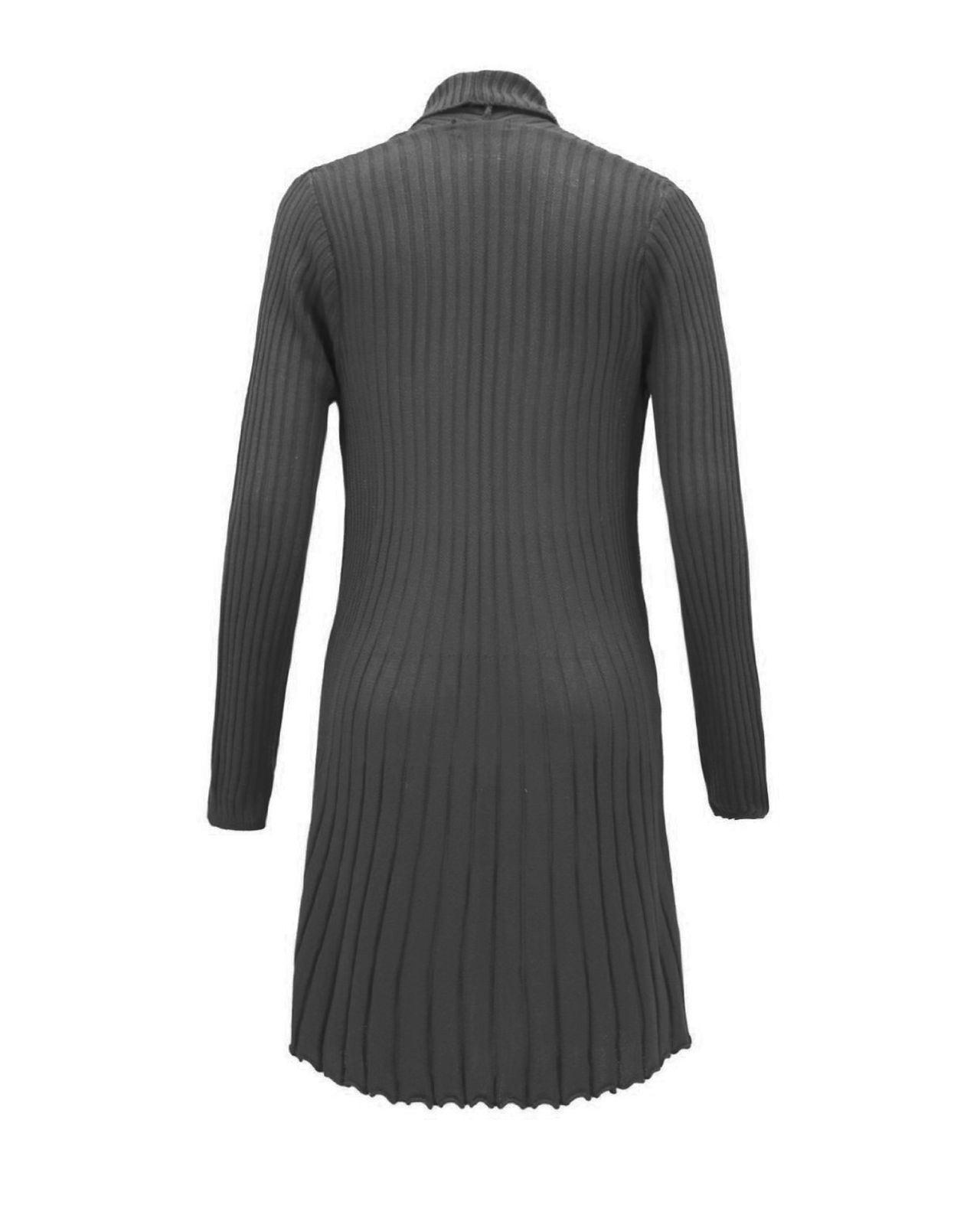 Senoras-Mujeres-De-Punto-Boyfriend-Cardigan-Brooched-Cascada-sumeria-Vestido-Jumper miniatura 14