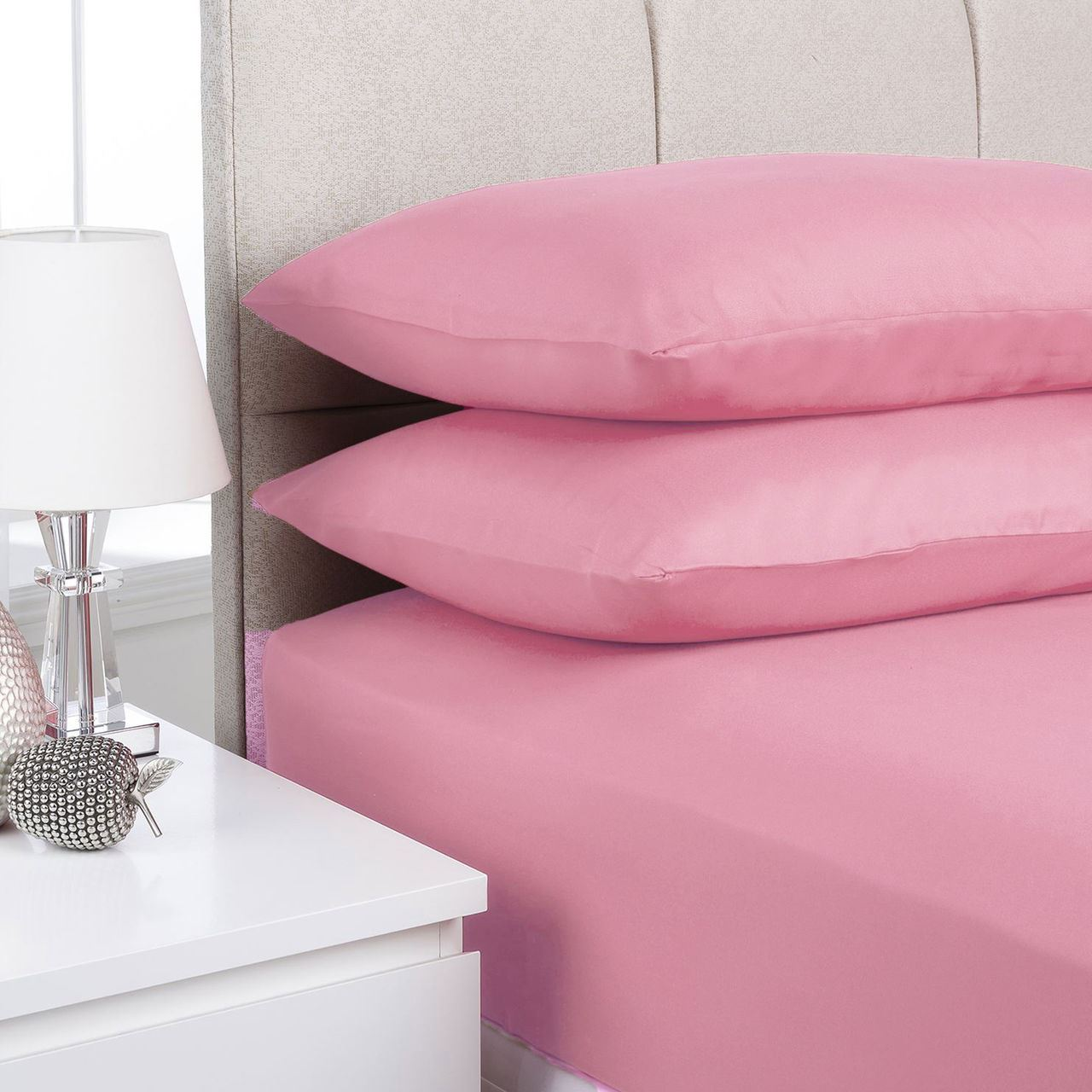 Superior Plain Fitted Bed Sheets Dyed Colour Single Double