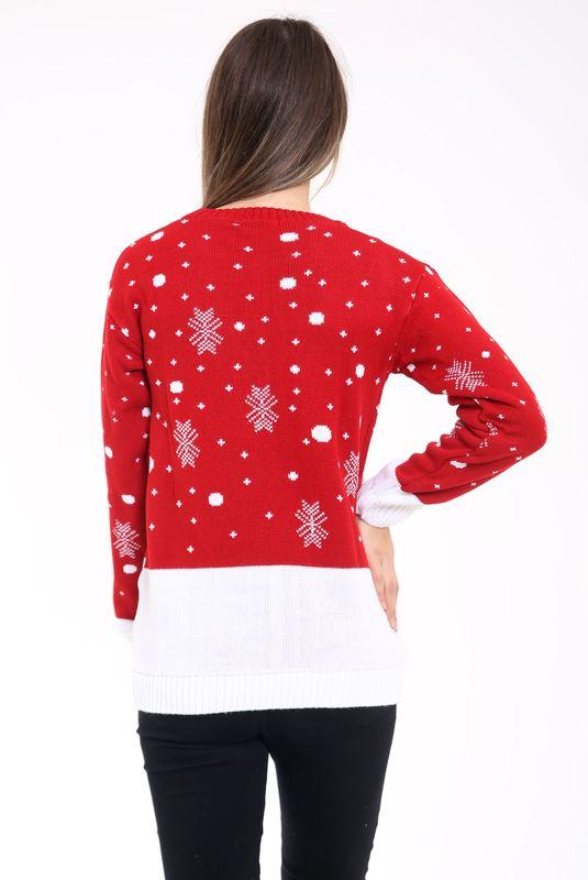New-Ladies-Women-Men-Knitted-Rudolph-Reindeer-Xmas-Christmas-Jumper-Sweater-Top thumbnail 6
