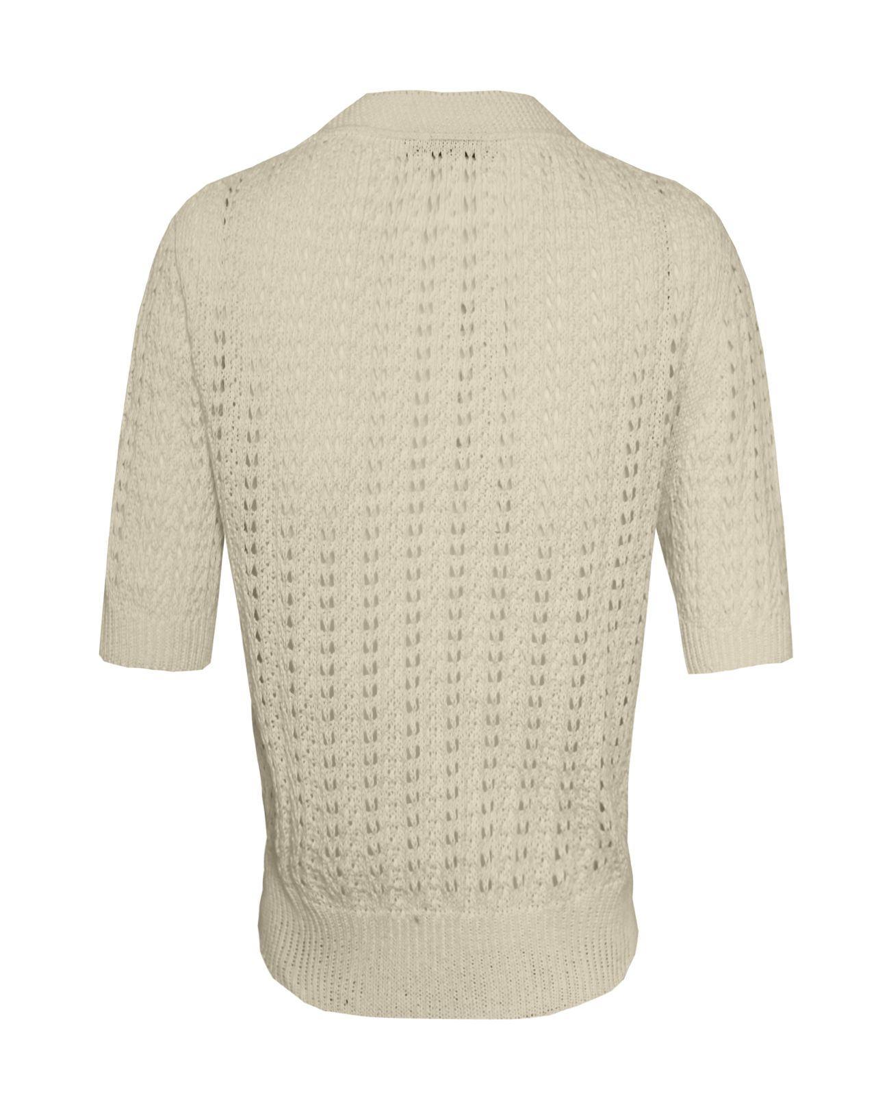 Mesdames-crochet-tricote-pour-femme-manches-courtes-hausser-brooched-cardigan-crop-top-8-14 miniature 17