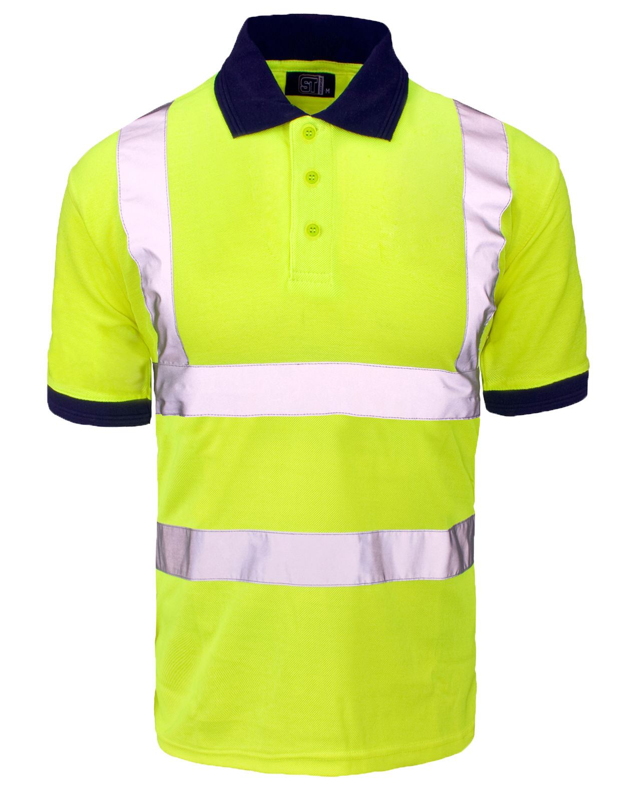 High visibility hi viz vis polo shirt reflective tape for Hi vis shirts with reflective tape