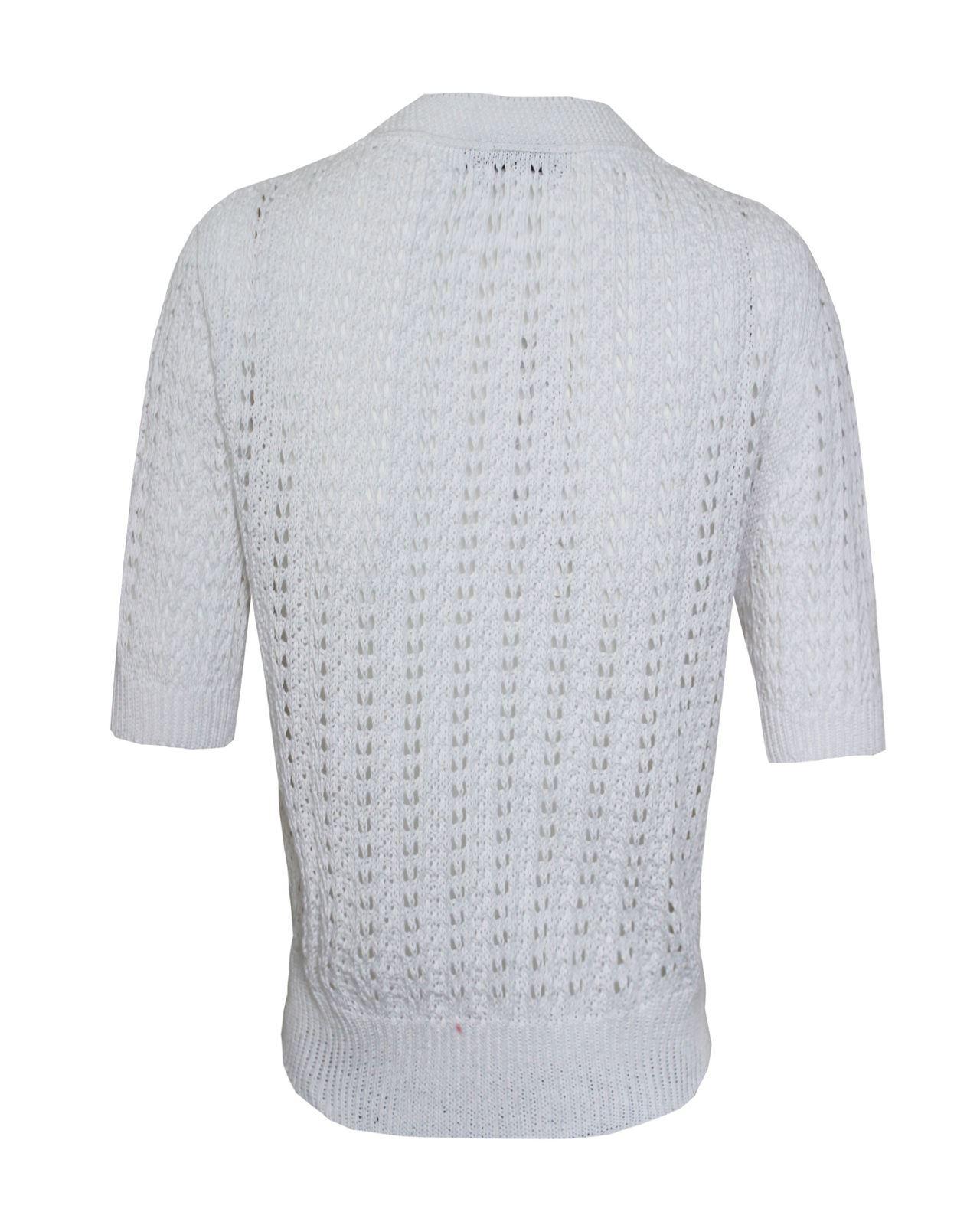 Mesdames-crochet-tricote-pour-femme-manches-courtes-hausser-brooched-cardigan-crop-top-8-14 miniature 20