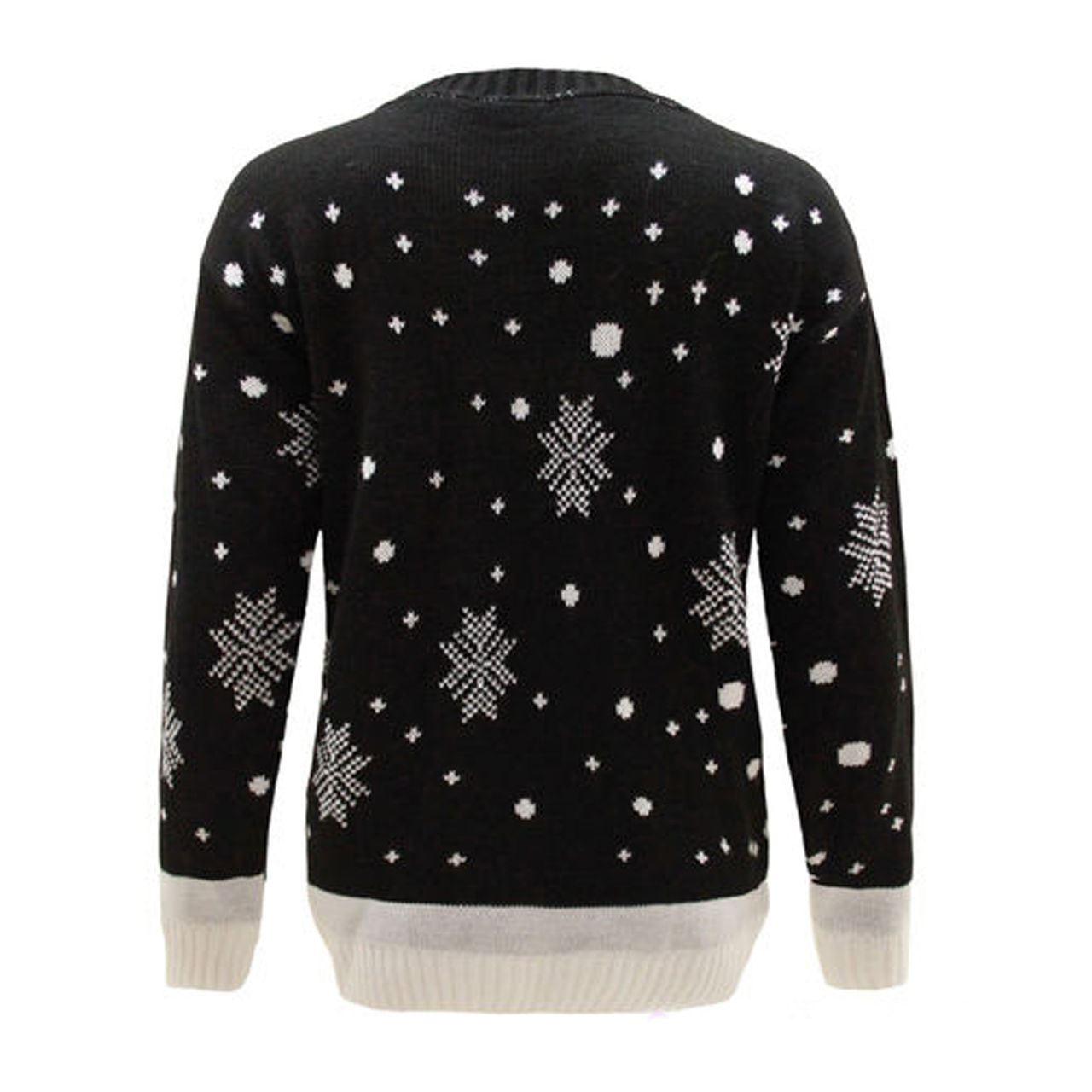 New-Ladies-Women-Men-Knitted-Rudolph-Reindeer-Xmas-Christmas-Jumper-Sweater-Top thumbnail 3