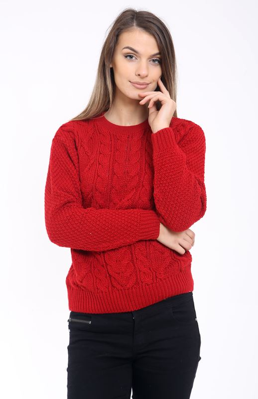 81f448b40 Ladies Women Cable Knit Long Sleeve Crew Neck Knitted Jumper Baggy ...