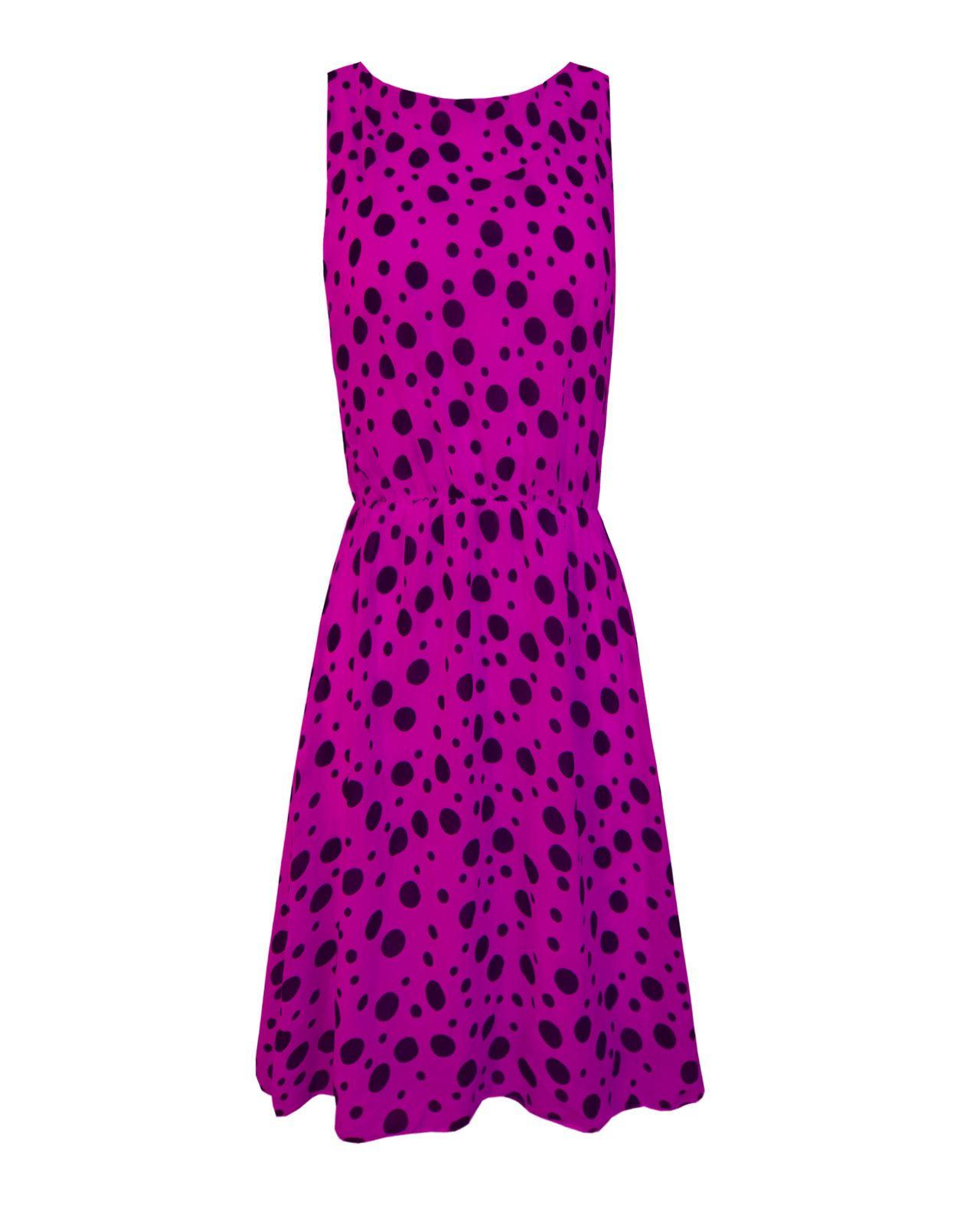 Vestido Corto nuevo Dama Mujer sin mangas lunares detalle Swing ...