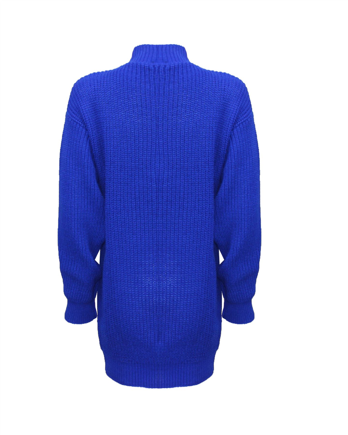 Le-donne-Donna-A-Maglia-Girocollo-Maglione-a-trama-grossa-Collo-Top-Baggy-Over-dimensionati-sweater miniatura 21