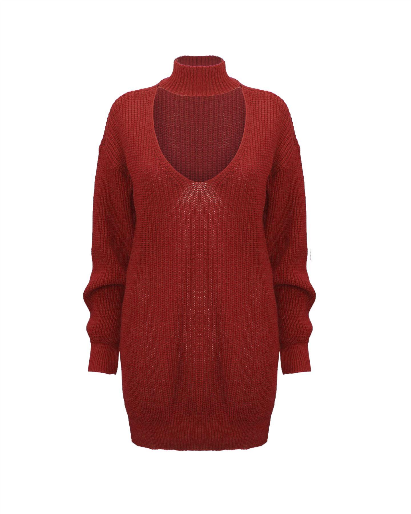 Le-donne-Donna-A-Maglia-Girocollo-Maglione-a-trama-grossa-Collo-Top-Baggy-Over-dimensionati-sweater miniatura 18
