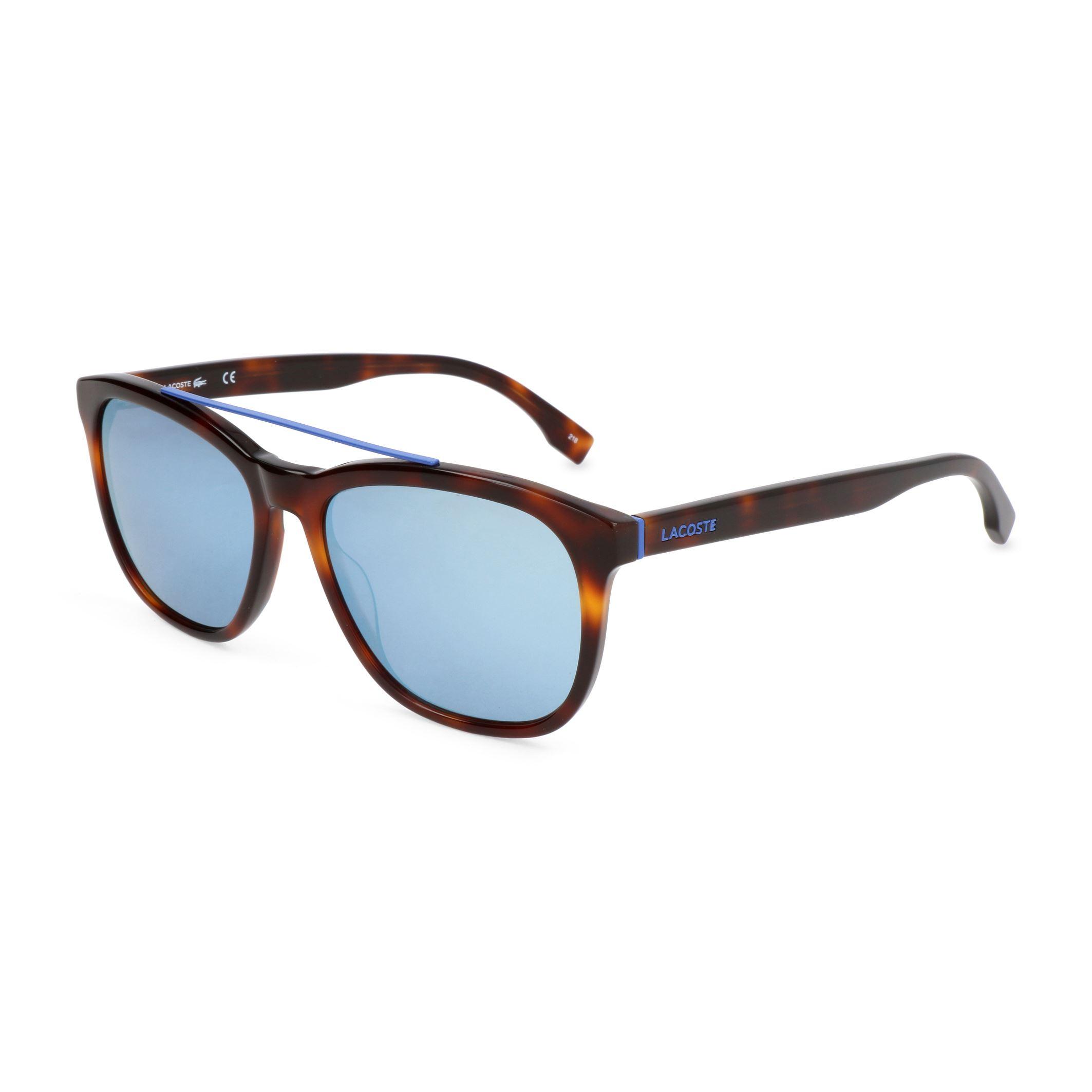 86c7b401dcf7 Details about Lacoste Men s Brown Sunnies Square Acetate Frame UV3  Sunglasses