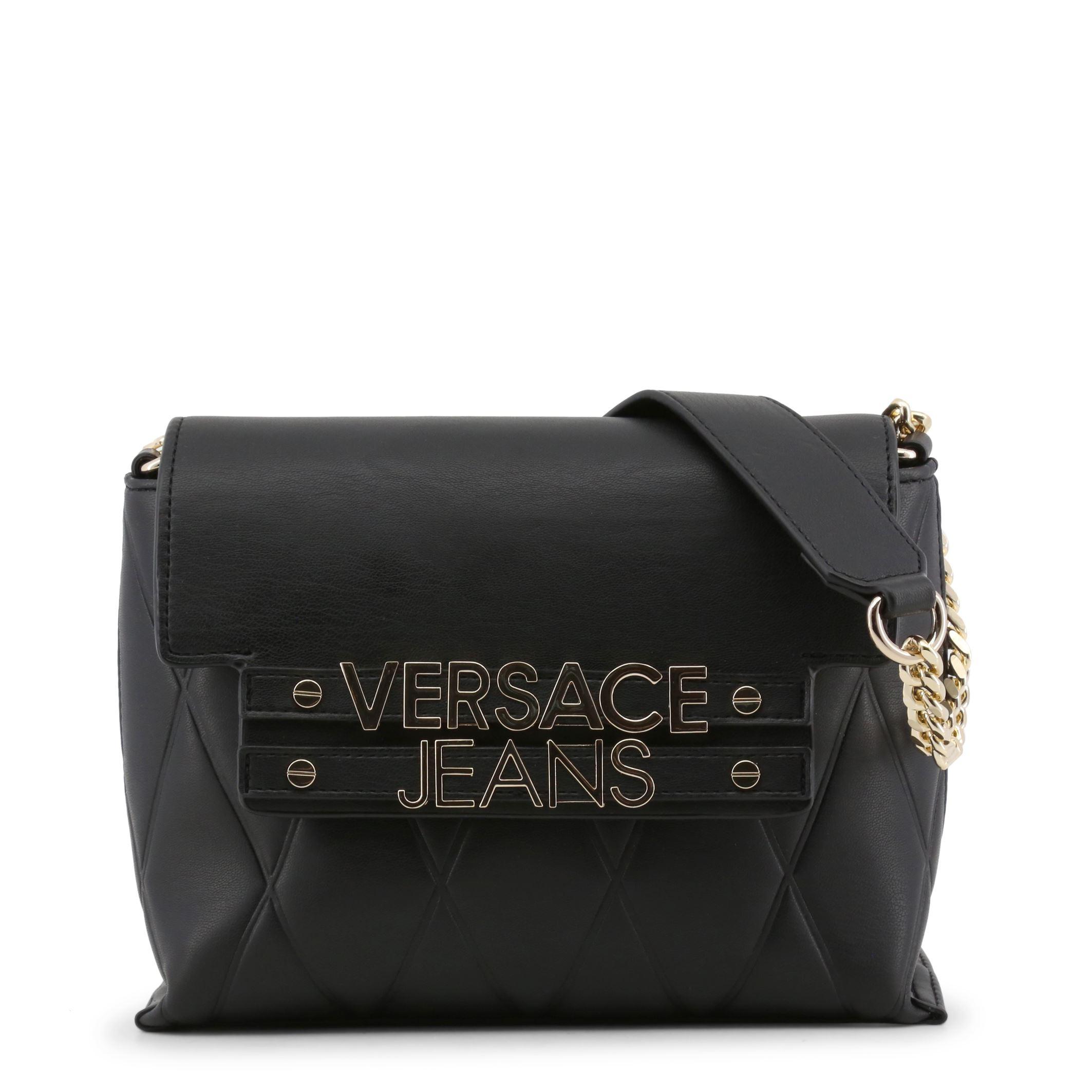 4a0837cc33 Versace Jeans Women s Black Shoulder Bag Magnetic Faux Leather ...