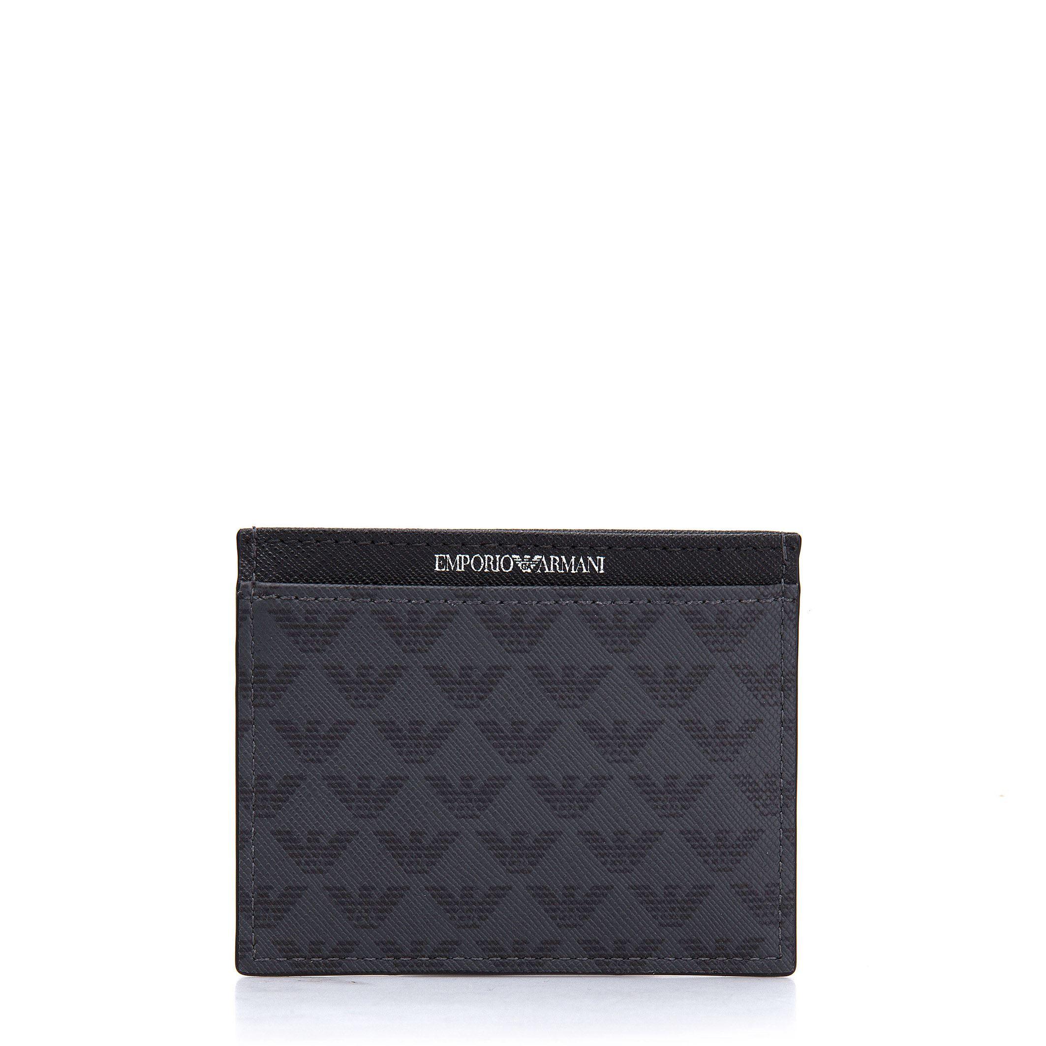 95e52f6a79 Emporio Armani Men s Black Wallet Credit Card Holder 8054523977884 ...