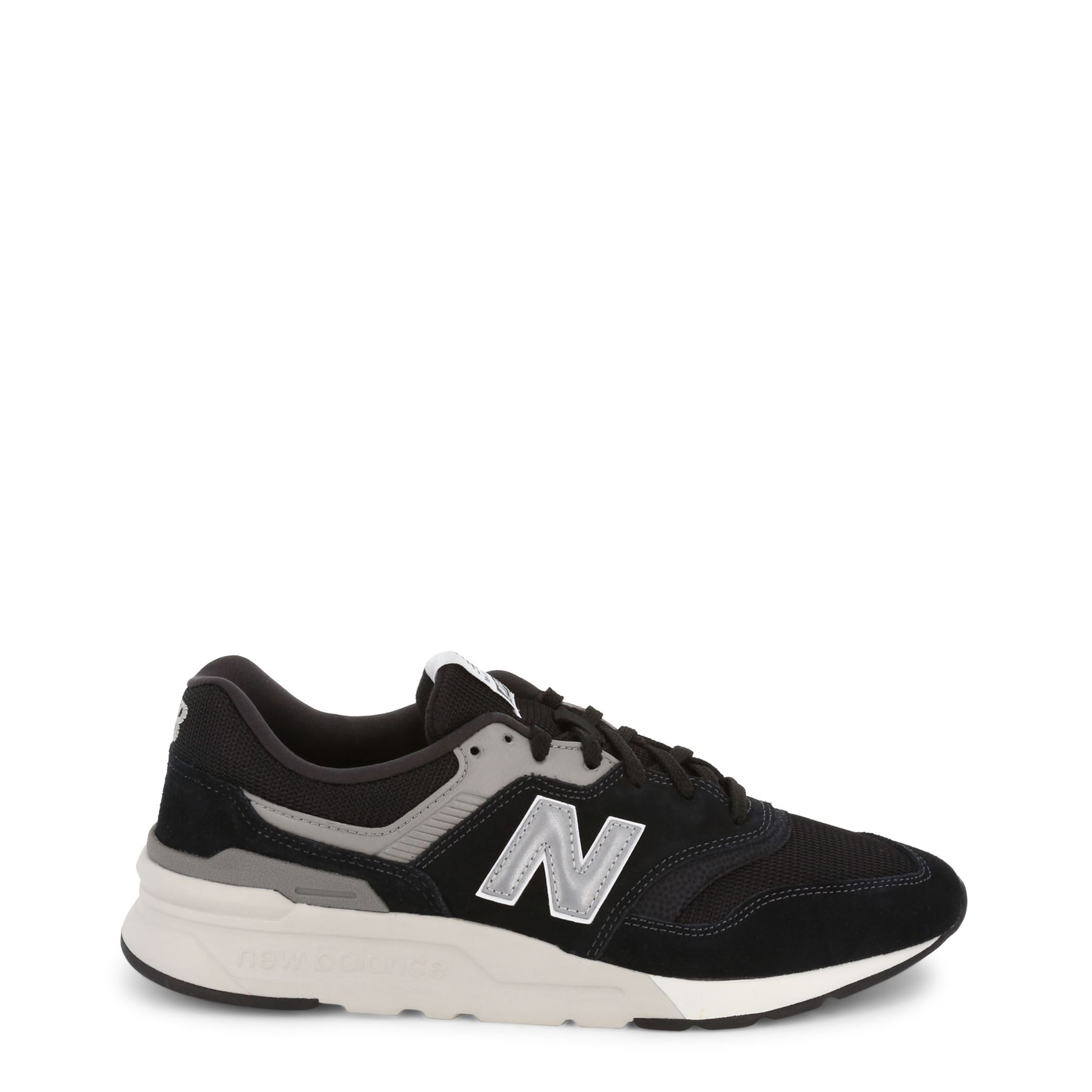 New Balance Men's bluee Athletic Sneakers Low-Top Lace-Up Faux Suede